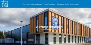 Skärmklipp från Nordkust Bygg ABs nya hemsida