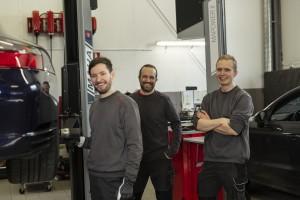 Bild från verkstaden hos Porsche Service Center Haninge.