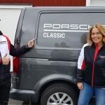 Fredrik Ros och Susanne Kottulinsky på Porsche Service Center Haninges Track-day.