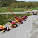 Bärgningsbilar från Assistancekåren utställda på Trucks in Dalarna.