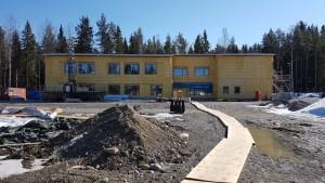 Falkträskets förskola bild på byggnaden 2020-04-17